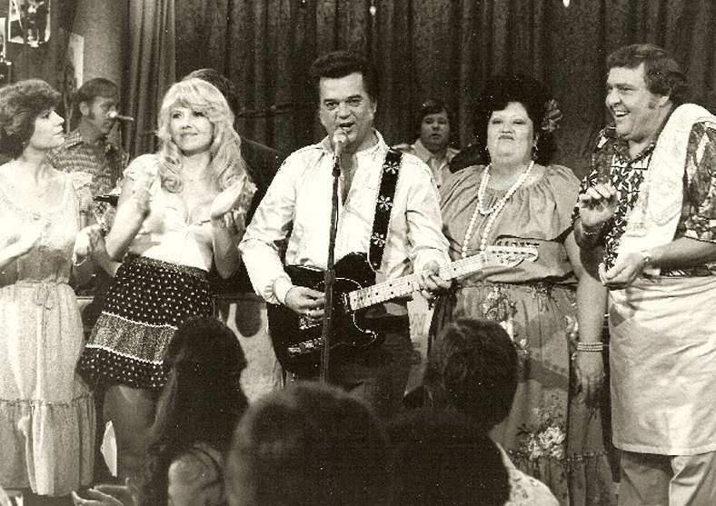 Misty Rowe with Conway Twitty and the Hee Haw Honey's