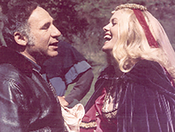 Misty Rowe with Mel Brooks in When Things Where Rotten